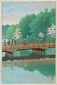 hanga gallery . . . torii gallery: Benkei Bridge by Kawase Hasui