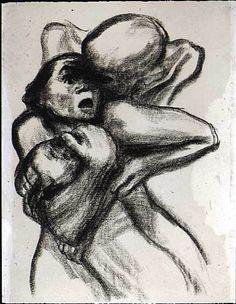 Kathe Kollwitz. Death Seizing a Woman. 1934.