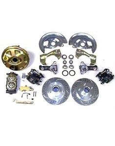 GM Chevy II 2 Nova High Performance Power Disc Brake Kit Slotted Rotors