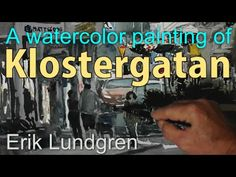 A watercolor painting of Klostergatan Lund, Sweden