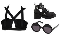 Dion Lee Elastic Bra Top - Ausmode  Jeffrey Campbell Coltrane Boots - Solestruck  Ksubi Bellatrix Sunglasses - The Iconic