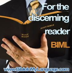 HOLY BIBLE For the discerning reader.  BIML www.bibleinmylangauge.com Bible Reader, English To Hebrew, Birth And Death, Serving Others, Rabbi, King Of Kings, Jerusalem, Bait, Good News