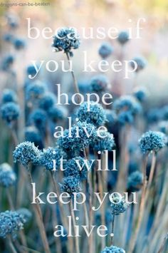 Hold on to hope. You can recover. #depression #recovery #hope
