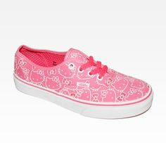 I'd totally wear these. Adorable! VANS x Hello Kitty Authentic Lace Up: Pink