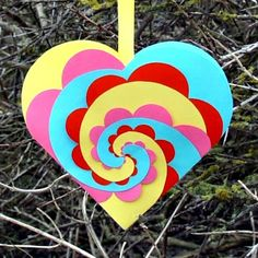 woven paper heart - this looks really cool! Love the bright colors.