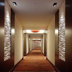 KGM Architectural Lighting - Red Rock Hotel - Las Vegas, NV #lighting #lightingdesign #hotel #lasvegas #texture #corridor