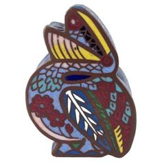 Check out this item at One Kings Lane! Antique Pelican Cloisonné Box