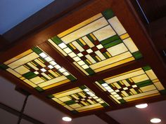 Frank Llyod Wright Stained Glass Ceilings