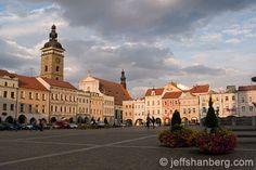 České Budějovice - Main Square Square Photos, Czech Republic, Maine, Louvre, Mansions, House Styles, Building, Travel, Bohemia