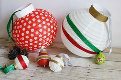DIY paper lantern ornaments