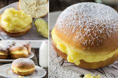 Brazilské koblihy s vanilkovým krémem | NejRecept.cz Pavlova, Cheesecakes, Cooker, Sweet Tooth, Food And Drink, Bread, Breakfast, Recipes, Glass