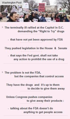 The terminally ill demand #RightToTry #drugs that have'nt been approved by #FDA #CapitolHill http://arzillion.com/S/RfuknZ