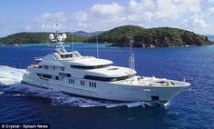 Floating palace: Inside Kimora Lee Simmons' decadent $325k-a-week yacht she's lounging on  in St. Bart's.