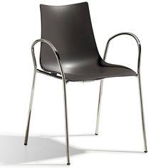 SalesFever Designer Stuhl mit Armlehnen »Zebra Technopolymer 4 Legs« für 119,00€. Designer Stuhl - Made in Italy! bei OTTO