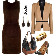"""""""L'Agence dress and Mango jacket"""" by lellelelle on Polyvore"""