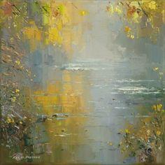 Rex PRESTON-Autumn Mist, River Derwent
