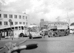 Bournemouth Bus Station - and a bike. Bournemouth England, Blue Bus, Bus Route, Stratford Upon Avon, Bus Coach, Photo Caption, Bus Station, Public Transport, Hampshire