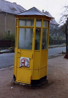 DDR Telefonzelle  Fernsprecher - Telephone box , November 9 1989 Radebeul,DDR