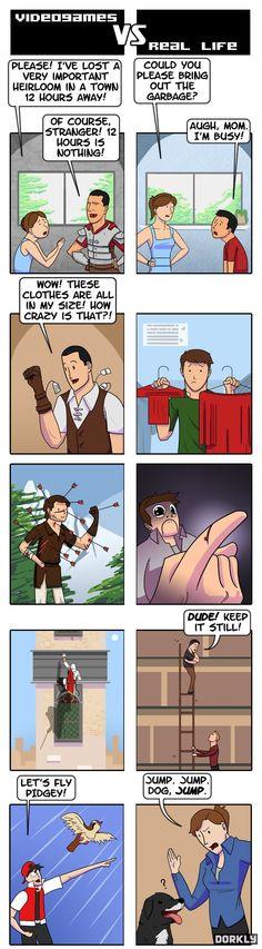 Videojuegos vs La vida real