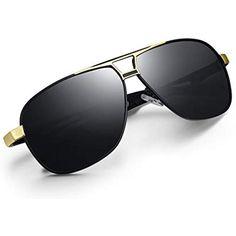 8e5711d947 WHCREAT Gafas de Sol Polarizadas Estilo Piloto Con Bisagras de Resorte  Lente de Protección UV400 Para