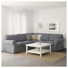 ikea ektorp sectional 4 seat corner nordvalla dark gray sitzpolster wohnzimmer ideen