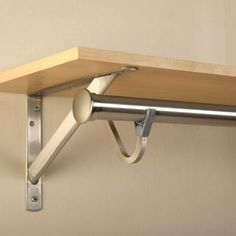 Closet Pro 11 1 4 In Heavy Duty Brushed Nickel Shelf And Rod Bracket