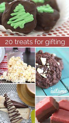20 TREATS FOR GIFTING   Didn't get around to making treats for the neighbors before Christmas? Give New Year's treats instead! 20 tried and true #recipes perfect for gifting. #neighbor #gift