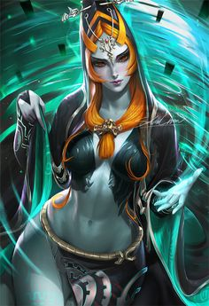 Finally got around to painting Midna. Her design is one of my favorite from the zelda franchise ! This is the normal version >semi-nude PSD+high res,steps,vidprocess etc>https://www.patreon.com/posts/midna-term-42-7237412