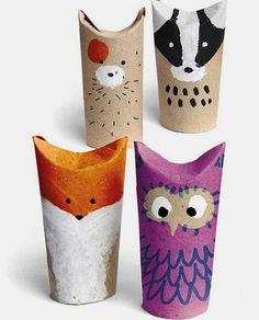 Tvoření s dětmi - nápady, co s ruličkami od toaletního papíru (11)