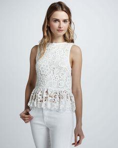 ShopStyle: Dolce Vita Anja Lace Peplum Top