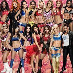 Current Divas in WWE Alicia Fox Becky Lynch Brie Bella Cameron Charlotte Emma Eva Marie Naomi Natalya Nikki Bella Paige Rosa Mendes Sasha Banks Summer Rae & Tamina Snuka