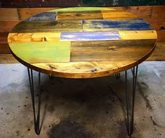"""Round kitchen tables are common, patchwork plank round kitchen tables? Now that's something a little different. Check out the full tutorial for this build from assembling the planks, antiquing the finish and cutting out the big ol' circle on the top. For more tips, tricks & tutorials head on over to www,LazyGuyDIY.com. Tools UsedMiter Saw (RIDGID 10"""" Sliding Compound Miter Saw) Drill/Driver (Ryobi 18v One+ Drill & Impact Driver Kit) Random Orbit Sander (R..."""