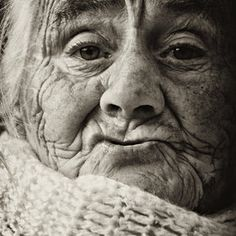 """Old, wrinkled... like my Nonnina (term of endearment meaning """"little grandmother"""") But still so beautifully wise and it is written all over her face."""