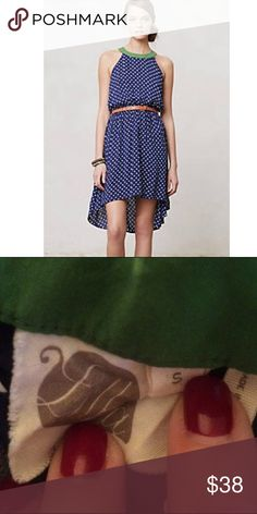 Anthropologie Lilka Lark high low dress! Lilka for anthropologie Lark high low blue polka dot dress! Size small. Soft and flowy. 100% rayon. Excellent condition! Bundle and save! Anthropologie Dresses