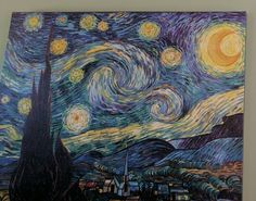 Starry Night in our living room. Reminds me of the Spirit of God moving and His presence around us.