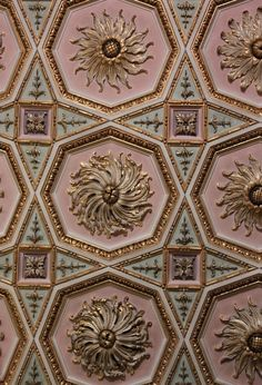 Intricate detail on the Drawing Room ceiling at Osterley Park House.