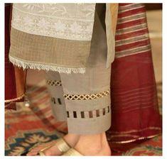 Kurti Sleeves Design, Kurta Neck Design, Sleeves Designs For Dresses, Dress Neck Designs, Blouse Designs, Fancy Dress Design, Stylish Dress Designs, Lace Design, Stylish Dress Book