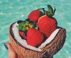 Berries and Coconuts #Beachwear #LadyLuxSwimwear #LuxurySwimwear #bikinis