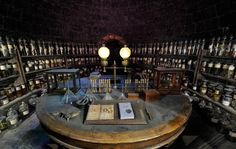 Potions classroom on the set of Harry Potter at the Warner Bros. Studio Tour London - The Making of Harry Potter