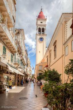 Spyridon, Old Town Corfu, Greece Beautiful Islands, Beautiful World, Beautiful Places, Albania, Macedonia, Foto Hdr, Places Around The World, Around The Worlds, Places To Travel