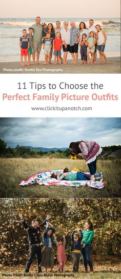 11 Tips to Choose the Perfect Family Photo Outfits Deciding what to wear in family photos is almost as challenging as finding the photographer. These tips will help you pick the perfect family photo outfits. Spring Family Pictures, Winter Family Photos, Family Picture Poses, Beach Family Photos, Family Picture Outfits, Family Photo Sessions, Beach Photos, Dslr Photography Tips, Sea Photography