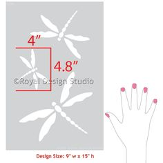 Painting Nursery Decor or DIY Outdoor Patio Projects with Dragonfly Wall Art Stencils - Royal Design Studio