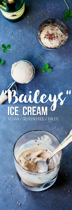 """Baileys"" Ice Cream (Vegan + Paleo)"