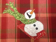 Items similar to Sledding Fun, A Cute Snowman Applique PDF Pattern for Tea Towel on Etsy Christmas Applique, Christmas Sewing, Christmas Projects, Christmas Quilting, Applique Pillows, Applique Quilts, Applique Towels, Cute Snowman, Snowman Crafts