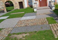 Patchwork paving, Dobřichovice, Czech Republic