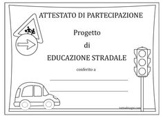 attestati-educazione-stradale Online Image Editor, Transportation, School, Google, Geography, Activities, Environment, Index Cards