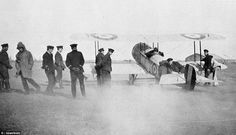 Flight sub-lieutenant Francis Bremner, nicknamed 'Bunnie' can be seen in the seat of the B...
