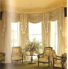 Bay Window Drapes | Denise and Gwen: If you do decide on window treatments for your bay ...