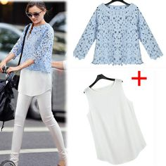 Summer 2014 Anchor New Fashion Women's Clothing European Plus Size Brand Cotton Women T Shirt Cropped Lace Blouse Vintage Blusa  $22.85