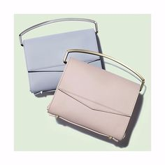 With minimalistic hardware and in beautiful powdery pastel shades, these structured #EddieBorgo briefcase clutches are the perfect partner to your camisole dress and robe coat.  Search 660566 (@eddieborgo bags) to shop at #NETAPORTER #SeeitBuyitLoveit - link in profile.